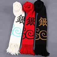 Meer Accessoires geinspireerd door Gintama Gintoki Sakata Anime Cosplay Accessoires Shawl Wit / Zwart / Rood Polyester / Wol Mannelijk