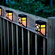 2-LED di colore giallo caldo Solare montaggio a parete lanterna Deck luce della lampada