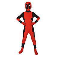 Dead Superhero Red/Black Print/Patchwork Halloween Cosplay Costume Lycra Full Body Kids' Zentai