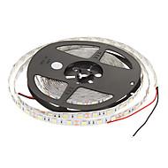 5M 60W 60x5050SMD 3000-3600LM 6000-7000K Cool White Light LED stripe lys med 12V 5A Adapter