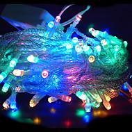 10M 6W 100-LED RGB Light LED Solar Strip Light for Christmas Decorations (110-120V/220-240V)