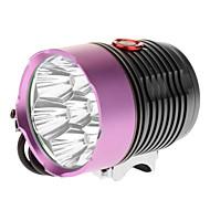 LT-2X7 3-Mode 7xCree XM-L T6 LED Bicycle Flashlight/Headlamp (6000LM, 4x18650, Purple+Brown)