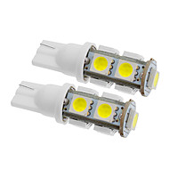 T10 Araba Soğuk Beyaz 5W SMD LED Gösterge Işıkları Plaka Aydınlatma Lambası Sinyal Lambası
