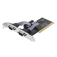 NetMos 2 Port Dual Serial Port PCI 32-bitars kort