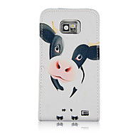 Loverly Milch Ko Mönster PU Leather Full Body Fodral till Samsung Galaxy S2 I9100