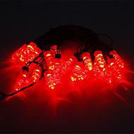 5M 15W 20-LED Red Light LED Strip Light (220V)