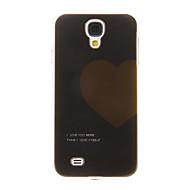 삼성 갤럭시 S4 I9500에 대한 검정 바탕에 하트 모양 플라스틱 방어적인 단단한 케이스 덮개