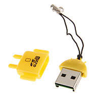 Mini USB Muistikortinlukija (vihreä / sininen / keltainen)