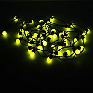 Los 5M 3W luz de la bola amarilla 50-LED en forma de luz de tira de LED (220)