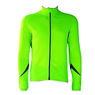 JAGGAD - Cykling Fleece långärmad Fluorescent Grön + Svart cykel Jersey