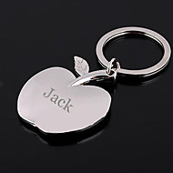 Personalized Engraved Gift Apple Shaped Keychain
