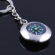 Porte-clés personnalisé gravé cadeau ronde Compass en forme