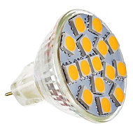 5W GU5.3(MR16) Spot LED MR11 15 SMD 5050 250-280 lm Blanc Chaud AC 12 V
