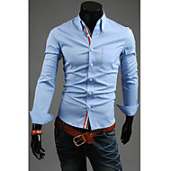 Men's Ribbon Adornment Concise Shirt