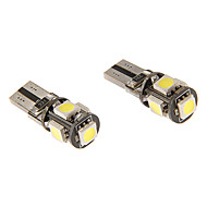 T10 3W 5x5060SMD 230LM 5500-6500K Cool White Light LED Bulb for Car (12V)