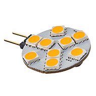 G4 / GU4(MR11) 2.5 W 9 SMD 5050 135-155 LM Warm White MR11 Spot Lights AC 12 V