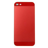 Red Metal Alloy Back Battery Housing with Red Glass For iPhone 5