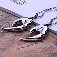 Gepersonaliseerde Gift Men's Jewelry Fire Rhinestone Ontwerp Gegraveerde hanger Ketting met 60cm Ketting