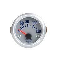 Temperatura del agua del metro del calibrador con el sensor para el coche auto 2 52mm 40 ~ 120Celsius Grado Naranja Light