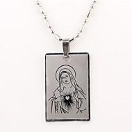 Personlig gåva-Silver-Rostfritt stål-Dekorativa Halsband- tillUnisex
