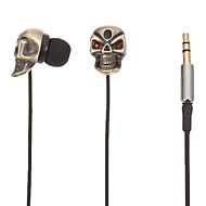 Stereo TM01 Skull-Shaped In-Ear Headphone (Gold)