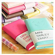 Mini Smile Face Colorful Diary Notebook(Random Color)