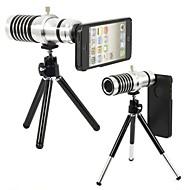 14X Zoom télescope objectif de mise au point manuelle avec arrière dur et stand Trépied pour Apple iPhone5/5S