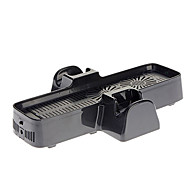 3In1 Cooling Fan Console Stand Usb Cable for Xbox 360 Slim(Black)