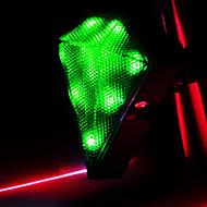 CoolChange 다이아몬드 방수 녹색 자전거 꼬리 빛