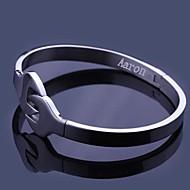 Personalizado de jóias presente Chave design em aço inoxidável gravado pulseiras um centímetro Largura