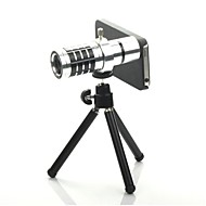 12X Detachable Telephoto Lens Set  for  Iphone5 - Silver