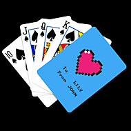 Personalized Gift Blue Heart Pattern Playing Card for Poker
