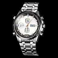 Męskie Do sukni/garnituru Kwarcowy Kwarc japoński LCD Compass Kalendarz Chronograf Wodoszczelny Dwie strefy czasowe alarm Stal nierdzewna