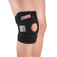 Kniebandage Sport unterstützen Verstellbar Einfaches An- und Ausziehen Klettern Camping & Wandern Laufen Schwarz