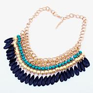z&x® Weinlese der Frauen Wassertropfen Acryl Abend bib Halskette