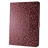 Grid Pattern Solid Color PU Leather Full Body Case with Stand for iPad Air (Assorted Colors)