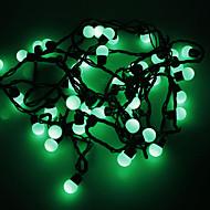 Vandtæt 5M 3W 50-LED Grønt lys kugle formet LED Strip Light (110V)