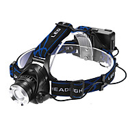 Lights Headlamps LED 1200 Lumens 3 Mode Cree XM-L T6 18650 Adjustable Focus / Waterproof / Rechargeable / Self-Defense Multifunction