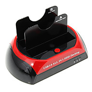 """CP-876U3-J All-in-1 2.5"""" 3.5"""" IDE/SATA/Esata HDD Docking with Card Reader (Red&Black)"""