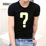 Men's Round Neck Embroidery  Short  Sleeve T-shirt