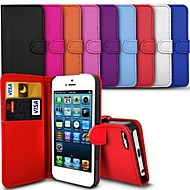 vormor® elegant PU lær sak for iphone 5 / 5s (assorterte farger)