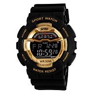 Hombre Reloj de Pulsera Digital LCD / Calendario / Cronógrafo / Resistente al Agua / alarma Caucho Banda Negro / Azul / Rojo Marca- SKMEI