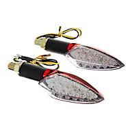 DIY Waterdicht 15-LED Richtingaanwijzers Yellow Light voor Motorfietsen Rood (DC12-16V 2W 2-delig)