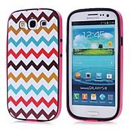Padrão TPU Cor Ondas + PC 2-in-1 caso capa dura para Samsung Galaxy S3 I9300