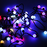 Waterproof 5M 3W 50-LED RGB Light Ball Shaped LED Strip Light-Flashing Mode (110V)