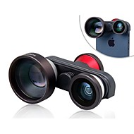 4-in-1 Multifunctional 5X Telephoto Lens with Macro and Two Fisheye Lenses for iPhone 5/5S/5C