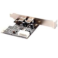 SuperSpeed USB 3.0 PCI Express (x1) (2x Ext) com Molex Connector e suporte de perfil baixo (Chipset: NEC720202)