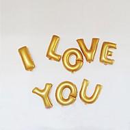 14 tommer Guld og sølv brev Folie Balloner AZ til bryllup Birthday Party