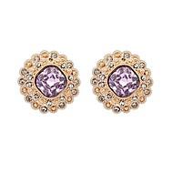 Πλατείες της μόδας των γυναικών Κράμα τεχνητό Elegant Stud σκουλαρίκια (Περισσότερα χρώματα) (1 ζεύγος)