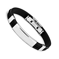 Men's Cuff Bracelet Personalized Fashion Stainless Steel Circle Black Jewelry For Daily Casual Sports Christmas Gifts 1pc